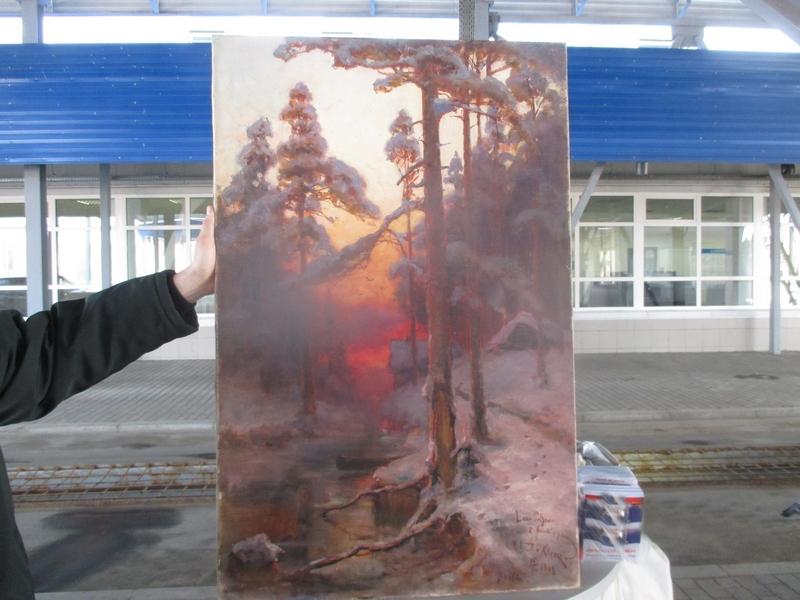 Брянские пограничники отыскали картины стоимостью практически 8 млн. руб.