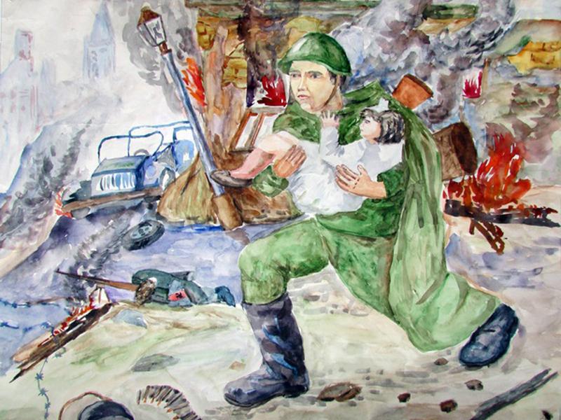 Рисунки связанные с войной карандашом
