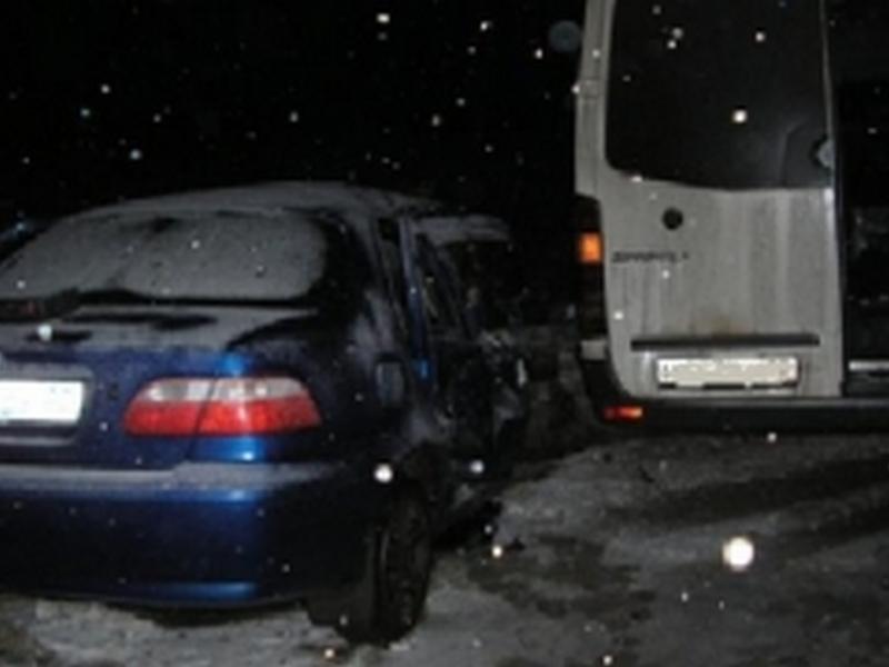 При столкновении иномарок набрянской трассе пострадали несколько человек